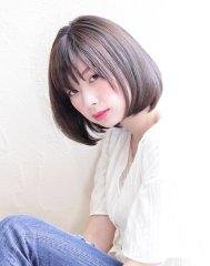 【京都・烏丸】透明感オトナ暗髪ナチュラルボブ【ルーリールー】