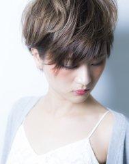 【miel hair渋谷】3Dハイライトで外国人風ショート