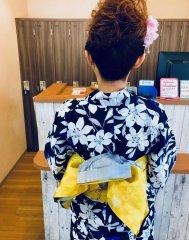 浴衣着付け&ヘアアレンジ☆ふわふわボリューム