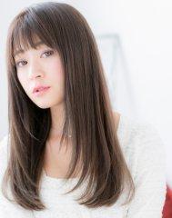 【LABstyle】透け感シースルーバング☆ナチュラルストレ