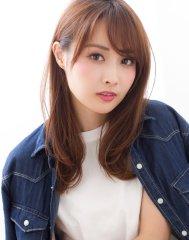 【添田】似合わせカットで小顔な前髪ひし形シルエットセミディ