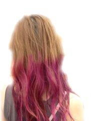 ゆるふわパーマピンク