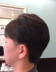 男前カット+前髪ストレート