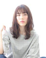 【albero山崎愉美】シースルーバング×透明感カラー