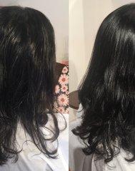 髪質改善をしながらの根元の縮毛矯正×中間~毛先のデジパー