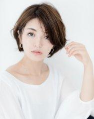 ひし形シルエットセンターパートベージュカラー小顔大人ボブ☆