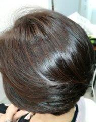 光沢のある髪は憧れです。