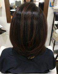 根元白髪染めリタッチ+毛先イルミナカラー