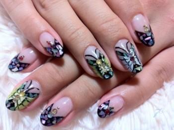 アゲハ蝶nail