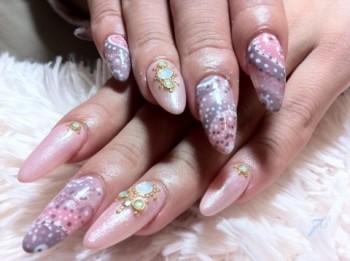 ペイズリー柄nail