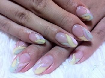 パステルプッチ柄nail