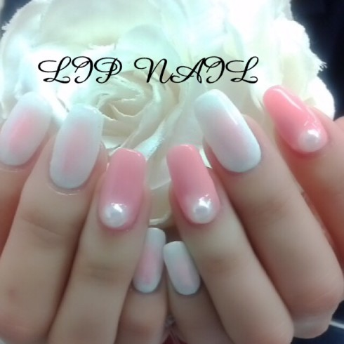 ピンク×ホワイトとBIGパール