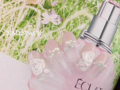 ピンク&3Dバラ/1月の新デザイン/ウェディング/ブライダル