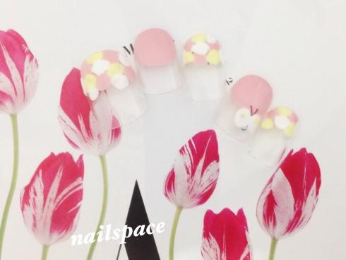 春のドット&ちょうちょ/ほっこり系/6980