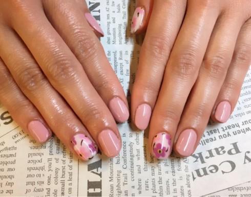 ワンカラー × 3本ピンクと紫のマリメッコ風アート