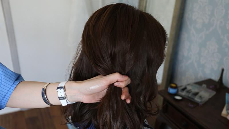 9.毛束を取る